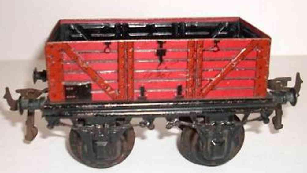bing 10/510 10114 spielzeug eisenbahn offener gueterwagen rot
