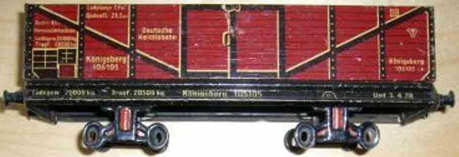 Bing 10/5105 Güterwagen Hochbordwagen