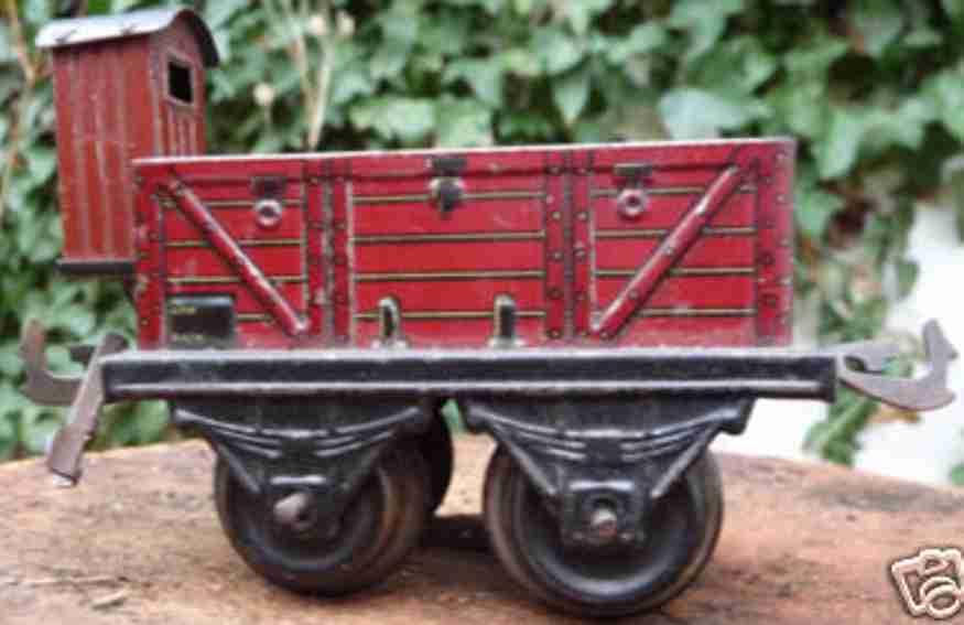 Bing 10/511 10118 offener Güterwagen mit hochliegendem Bremserhaus