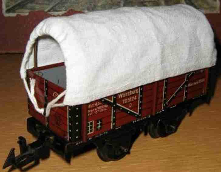 Bing 10/5124 Güterwagen Planwagen mit Plane