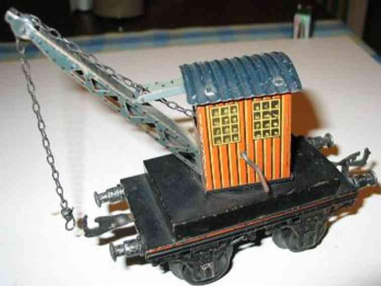 bing 10/513 spielzeug eisenbahn kranwagen schwarz rotbraun spur 1