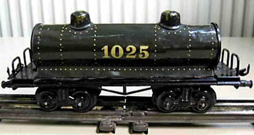 bing 10/529 spielzeug eisenbahn kesselwagen 1025 grau schwarz spur 0