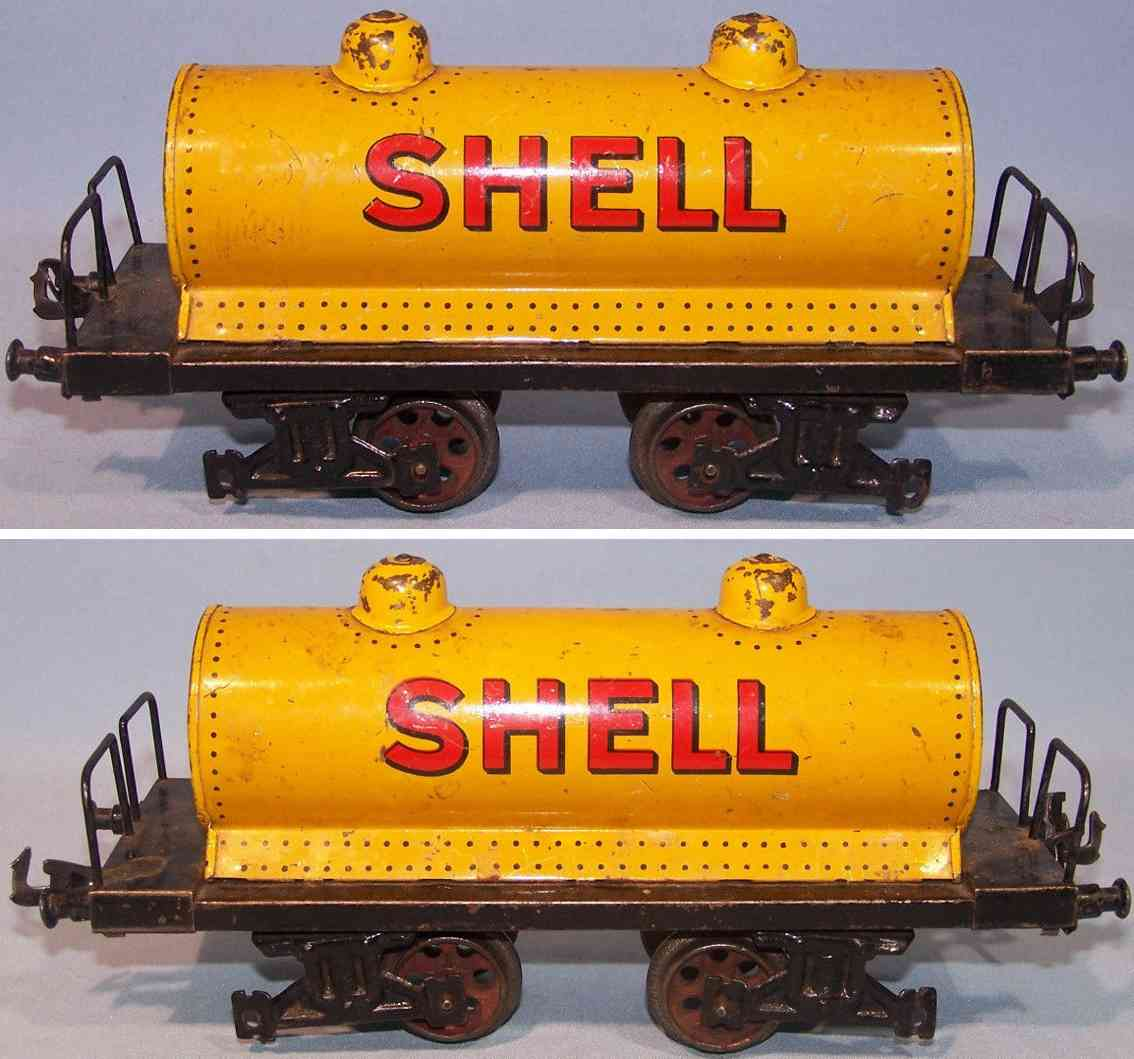 bing 10/529/1 eisenbahn kesselwagen gelb shell spur 1
