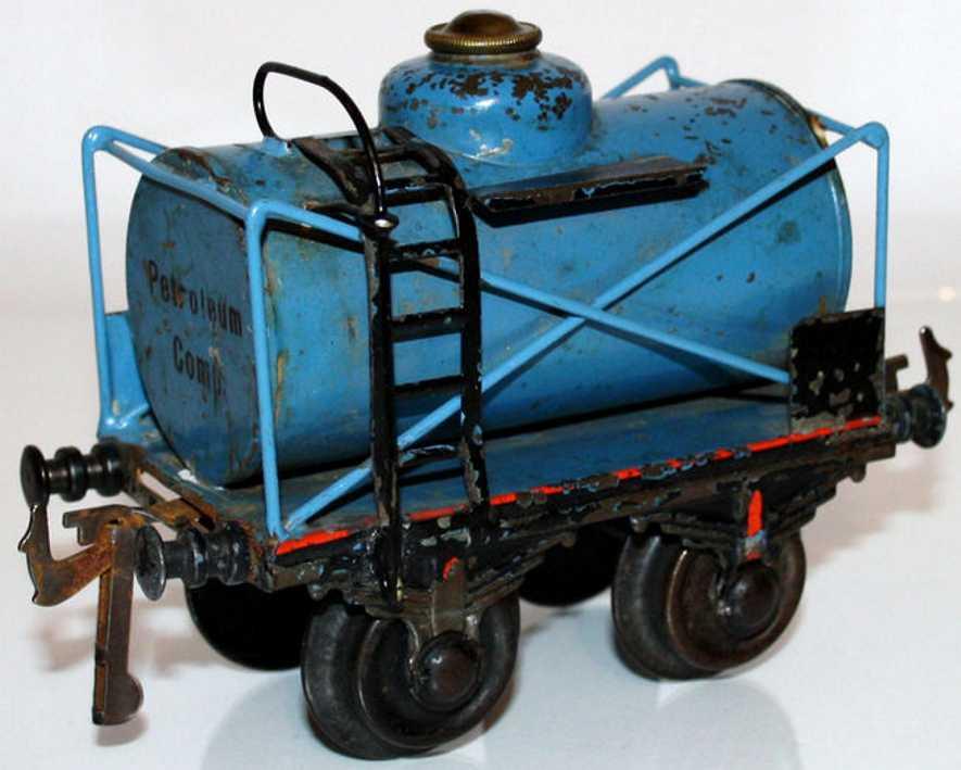 bing 10/543 spielzeug eisenbahn patroleumwagen blau spur 1