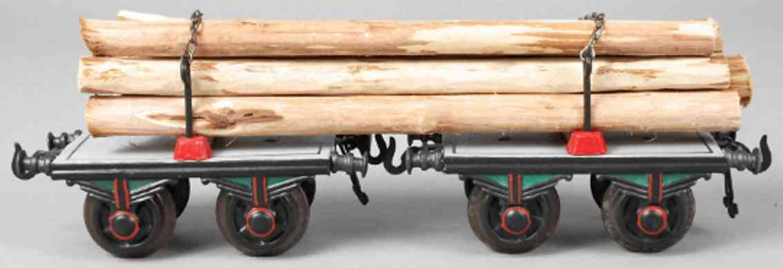 bing 10/546 railway toy long-cut wood car gray gauge 1