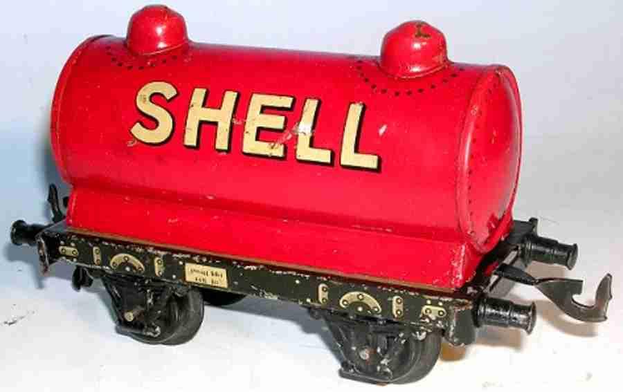 bing 10/566 shell spielzeug eisenbahn kesselwagen rot spur 1