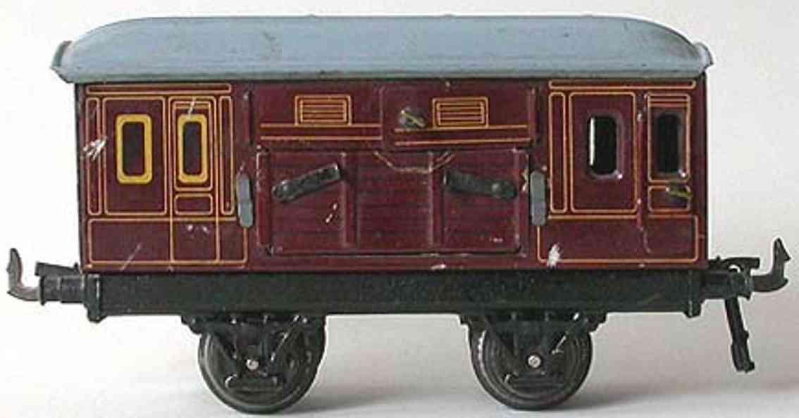 bing 10/581 spielzeug eisenbahn pferdetransportwagen rotbraun spur 0