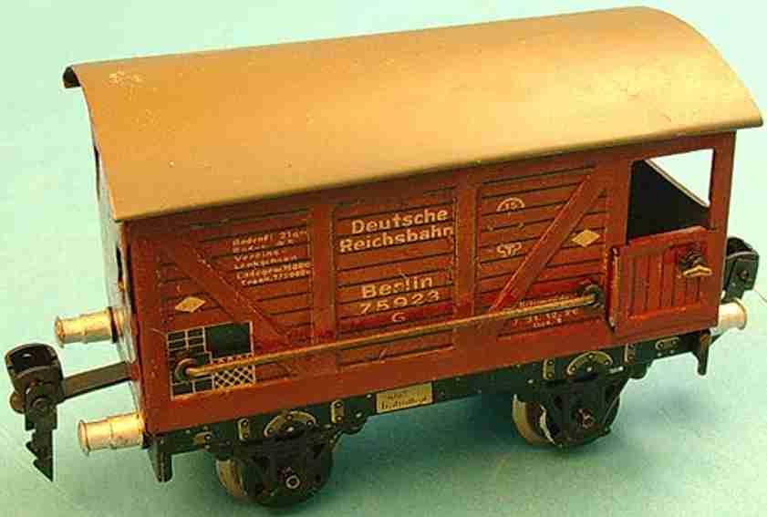 bing 10/584 railway toy brakeman car brown gauge 0