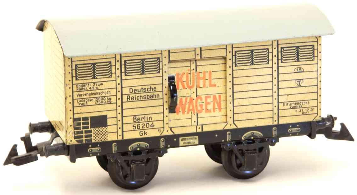 bing 10/590 railway toy refrigerator car ivory gauge 0