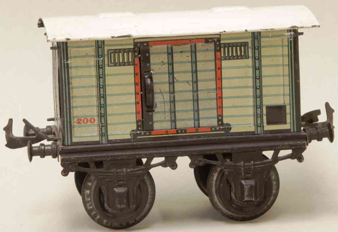 bing 10125 railway toy beer car white gray gauge 1