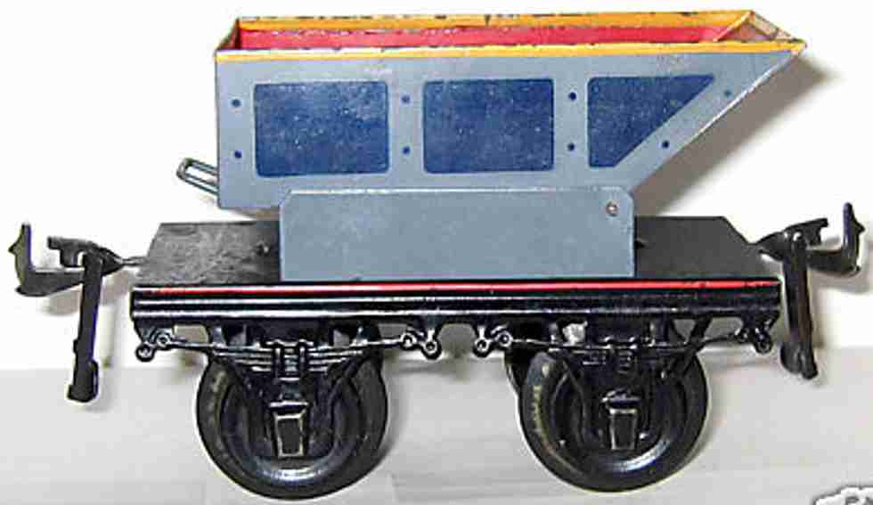 bing 10256 spielzeug eisenbahn dreh-kippwagen blau grau spur 1