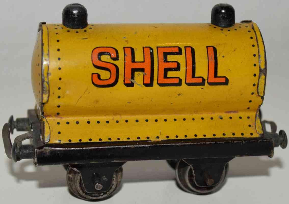 bing 11/923/24 eisenbahn kesselwagen gelb shell spur 00