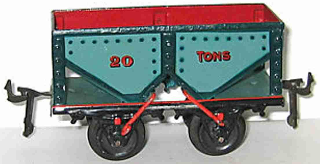 bing 13668 spielzeug eisenbahn kohlewagen blau gruen rot spur 0