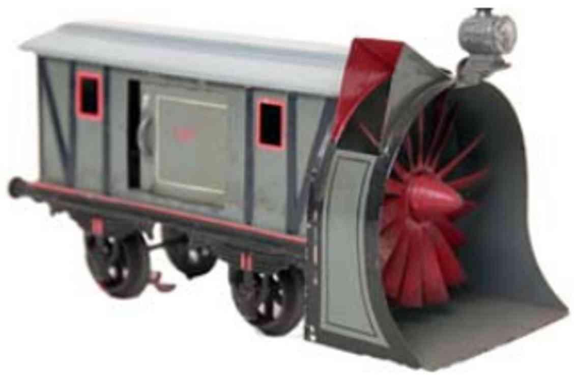 bing 14465 1911 railway toy snow thrower car gauge 1