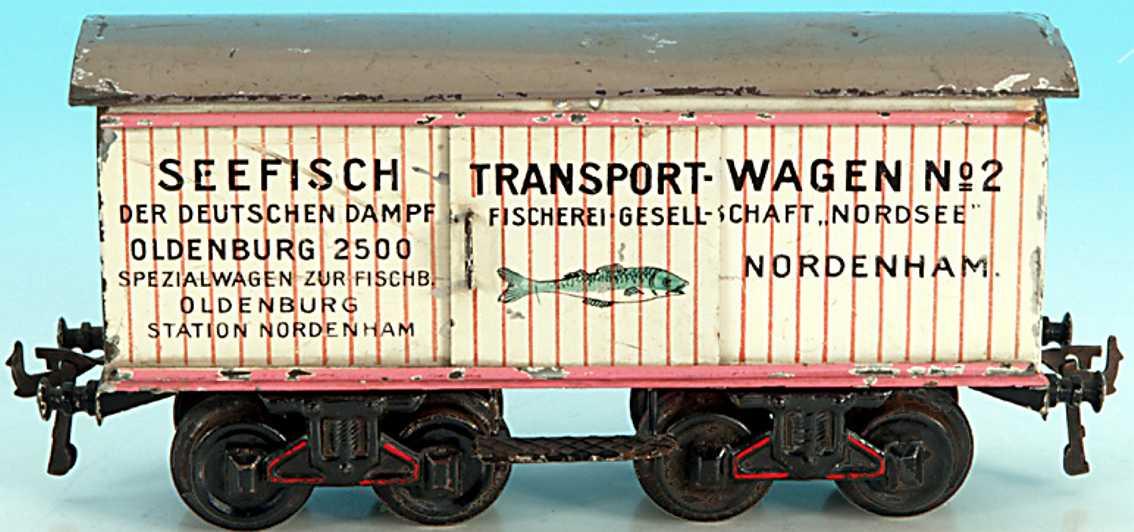 bing 14469 spielzeug eisenbahn fischtransportwagen weiss spur 1