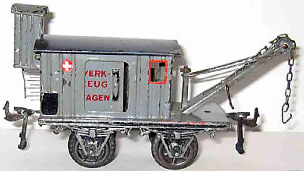 bing 14473 spielzeug eisenbahn werkzeugwagen grau blau spur 0
