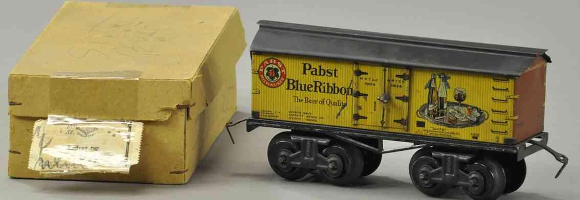 bing 525/82 spielzeug amerikansicher bierwagen pabst blue ribbon spur 1