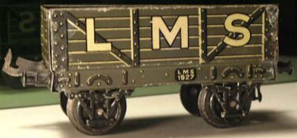 bing 62/592 lms spielzeug eisenbahn hochbordwagen grau spur 0