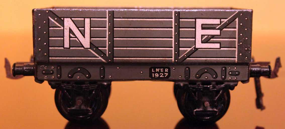 bing 62/592 lner railway toy english gondola gray gauge 0