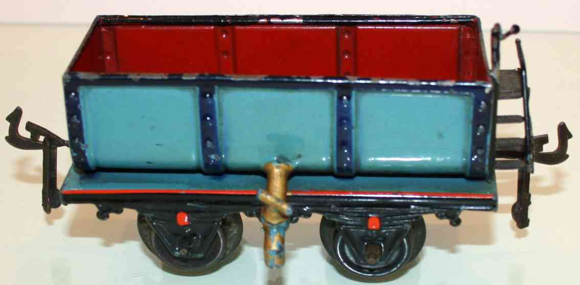 bing 6307 railway toy liquid car blue red gauge 0