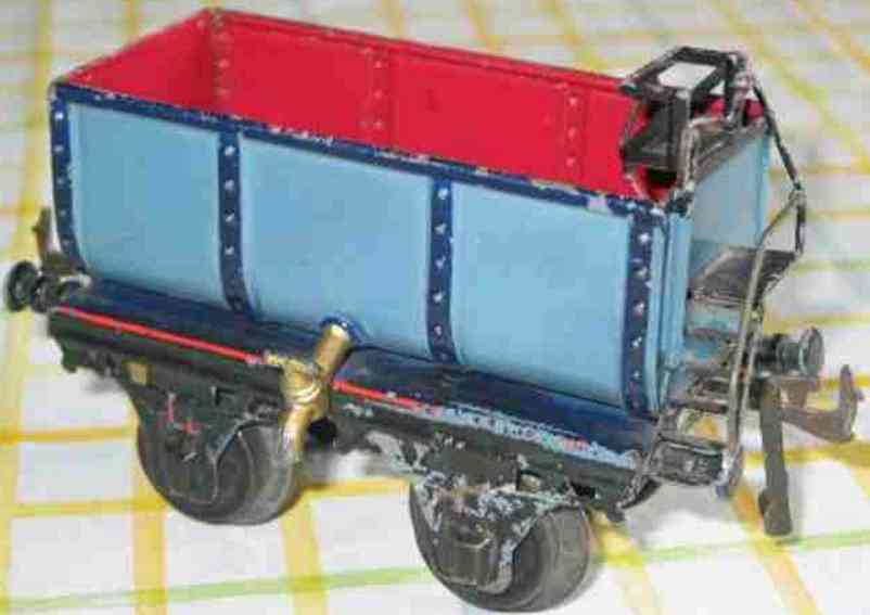 bing 6307 railway toy liquid car blue red gauge 1
