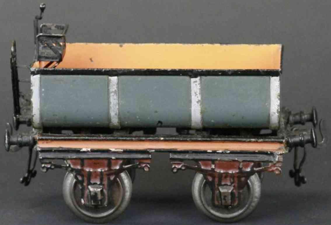 bing 6307 railway toy liquid car gray brown gauge 1