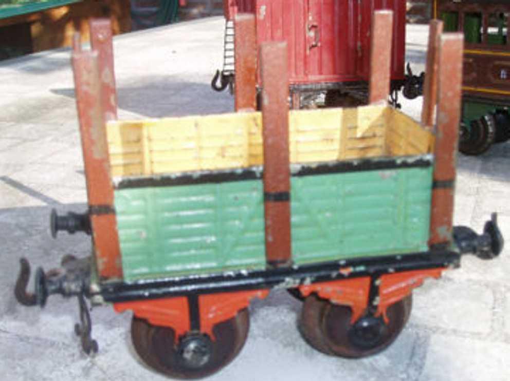 bing 7084 spielzeug eisenbahn rungenwagen gruen spur 1
