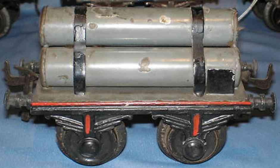 bing 9184 railway toy gas tube car gray gauge 1