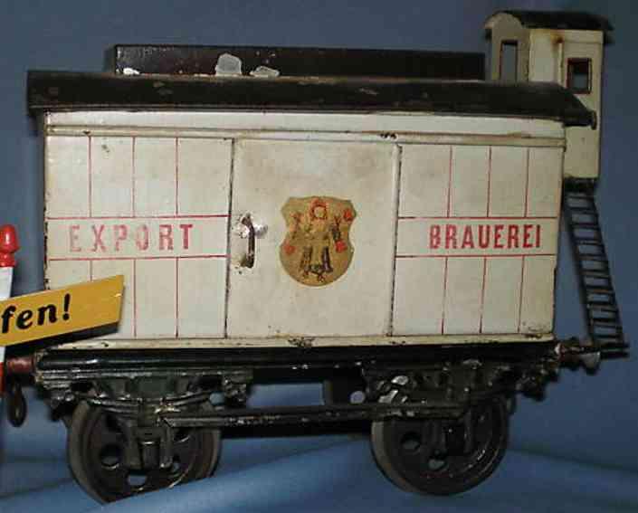 bing 9227 railway toy beer car munich child gauge 4 Iv