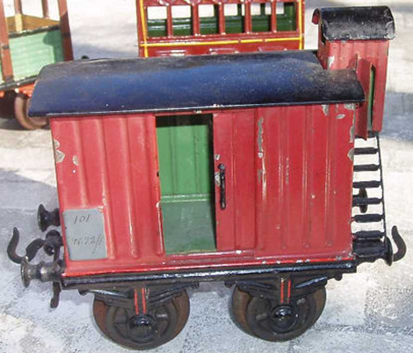 bing 9692 railway toy box car brown gauge 1
