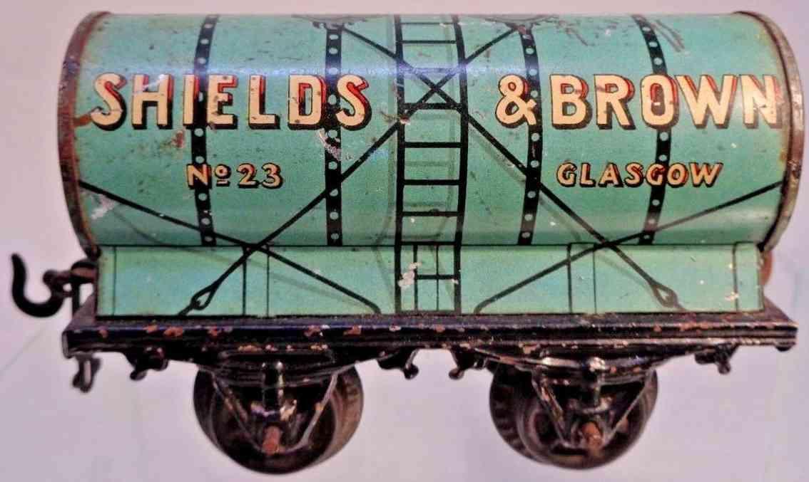bing m1359/0 spielzeug eisenbahn kesselwagen shields brown 23 glasgow spur 0