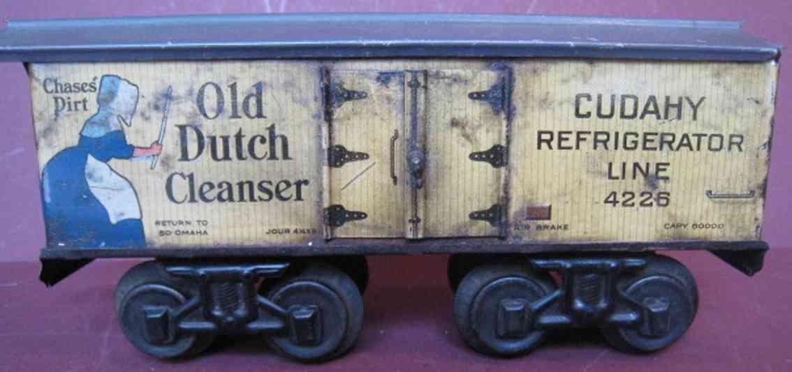 bing 525/83 eisenbahn amerikanischer gedeckter gueterwagen old dutch cleanser spur 1