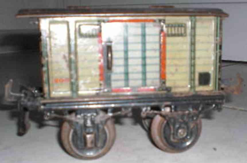 bing spielzeug eisenbahn englischer gedeckter güterwagen; 2-achsig