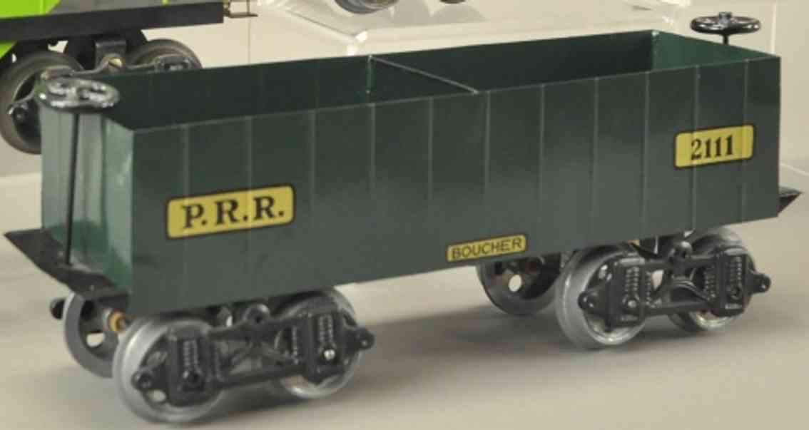 boucher he mfg co 2111 prr spielzeug eisenbahn offener gueterwagen standard gauge