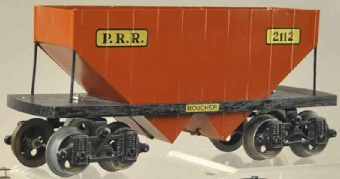 boucher he mfg co 2112 prr spielzeug eisenbahn schuettgutwagen standard gauge