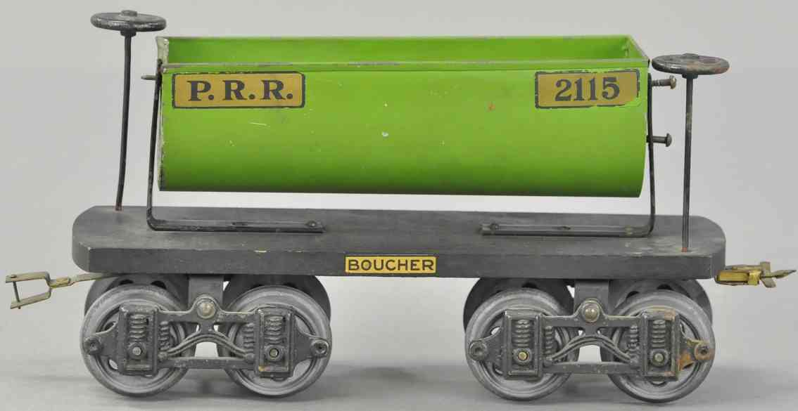 boucher he mfg co 2115 prr railway toy dump car green standard gauge