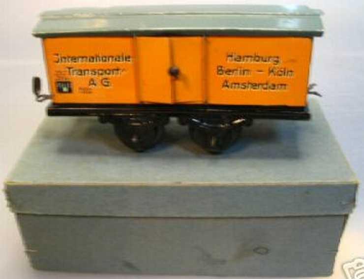 bub 10.564 spielzeug eisenbahn gedeckter gueterwagen hellbraun spur 0