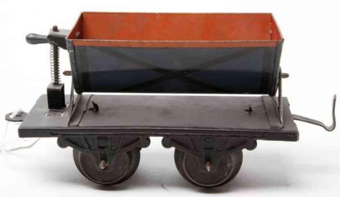 bub 1037/0 spielzeug eisenbahn kippwagen hellblau spur 0
