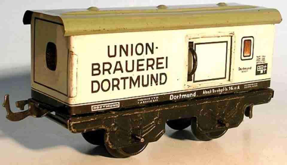 bub 1045/0/4 spielzeug eisenbahn bierwagen weiss beige union spur 0