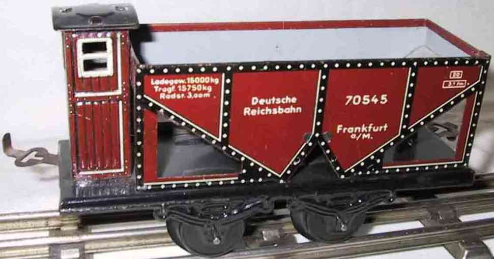 bub 1047/0 railway toy coal hopper brown black gauge 0 frankfurt 70545