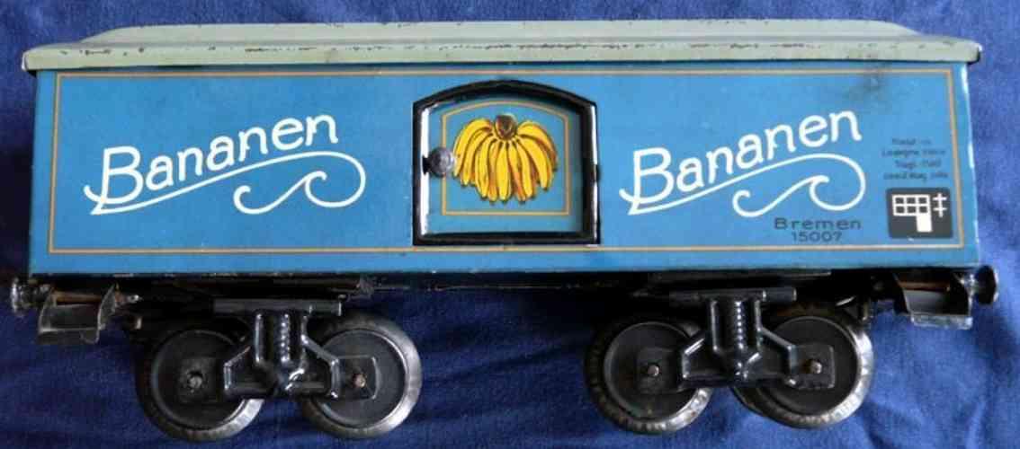 bub 1635/0/2 spielzeug bananenwagen blau spur 0