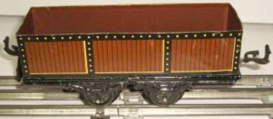 bub 712/0 railway toy hopper car maroon gauge 0