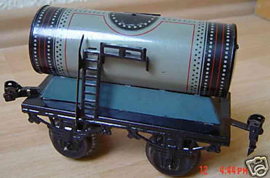 bub 737/0 railway toy tank car gray gauge 0