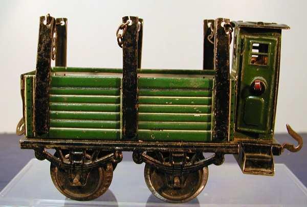 bub 739/0 railway toy flat car stakes green gauge 0