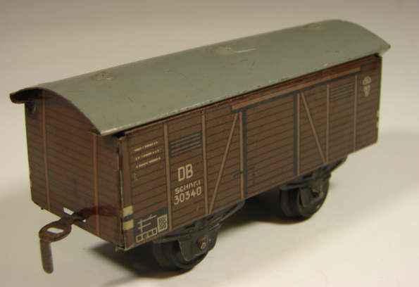 bub 800/30 railway toy high sided car maroon gauge s