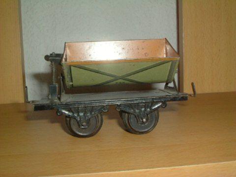 bub 962 railway toy tipper car green brown gauge 0