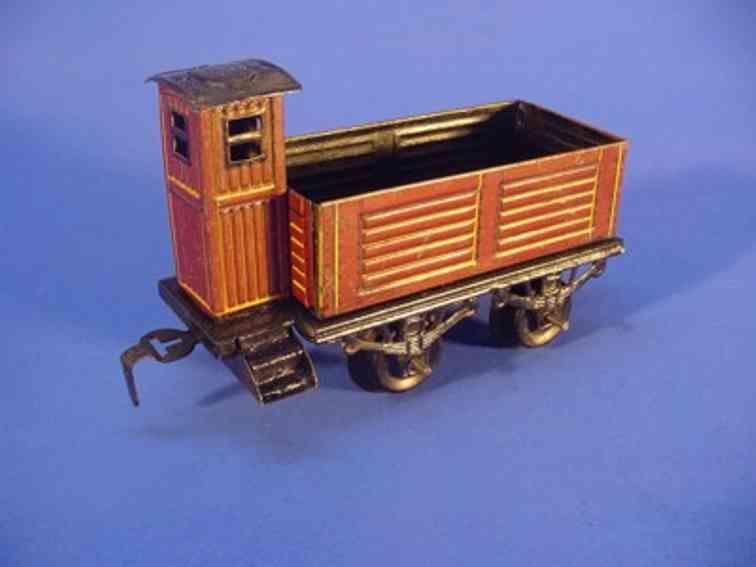 bub 963 railway toy gondola car maroon gauge 0
