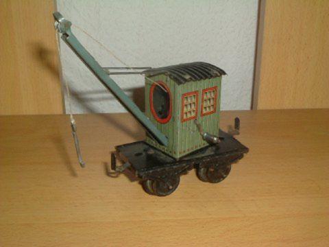 bub 966 railway toy crane truck green gauge 0