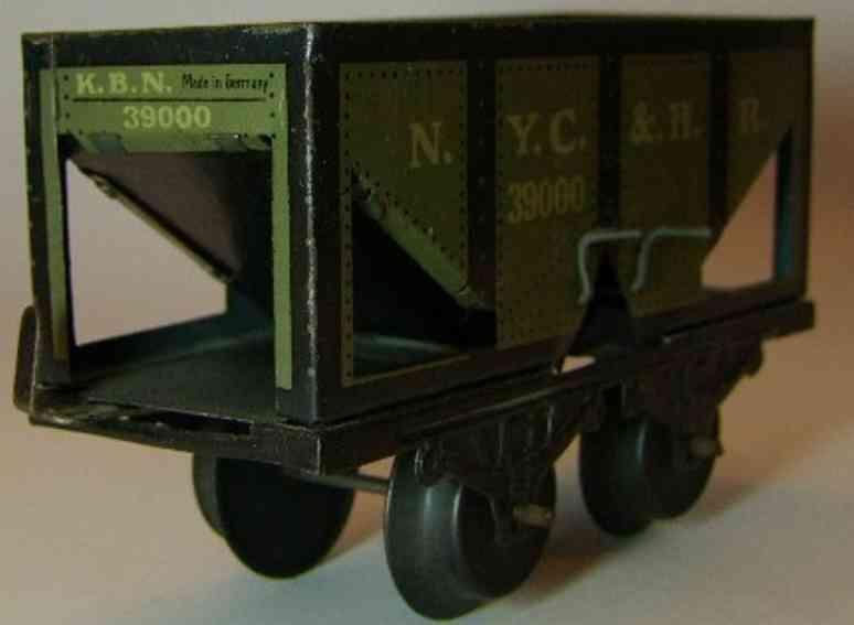 bub 969 railway toy coal car gray nyc & hr gauge 0