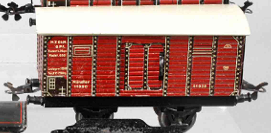 karl bub 982 railway toy box car maroon muenster 11920 gauge 0